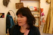 Priscilla the shop keeper in blurry motion