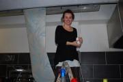 Irene on the ladder